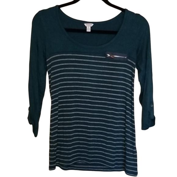 🍩2/$25▪️Guess striped blouse